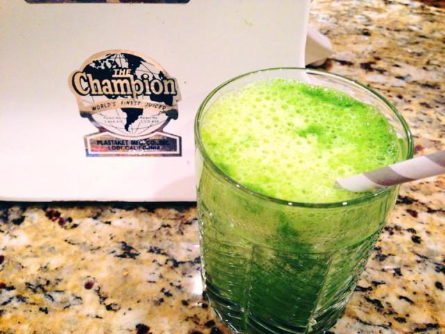 Lovin my Shamrock Green Juice - Coastal Chiropractic Style.