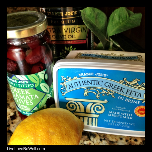 These are my fave ingredients for my vinegar based Greek potato salad...Yum!...